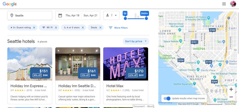 Google Seattle Search